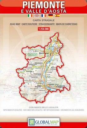 Cartina Geografica Piemonte Valle D Aosta.Regione Piemonte E Valle D Aosta Carta Geografica Turistica E Stradale