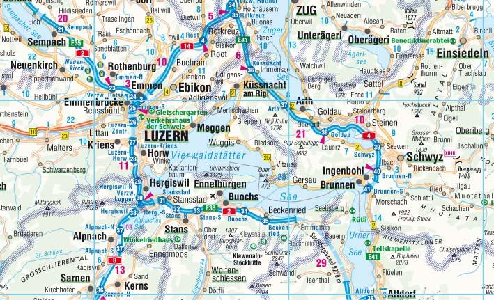 Cartina Stradale Della Svizzera.Svizzera Carta Geografica Turistica E Stradale