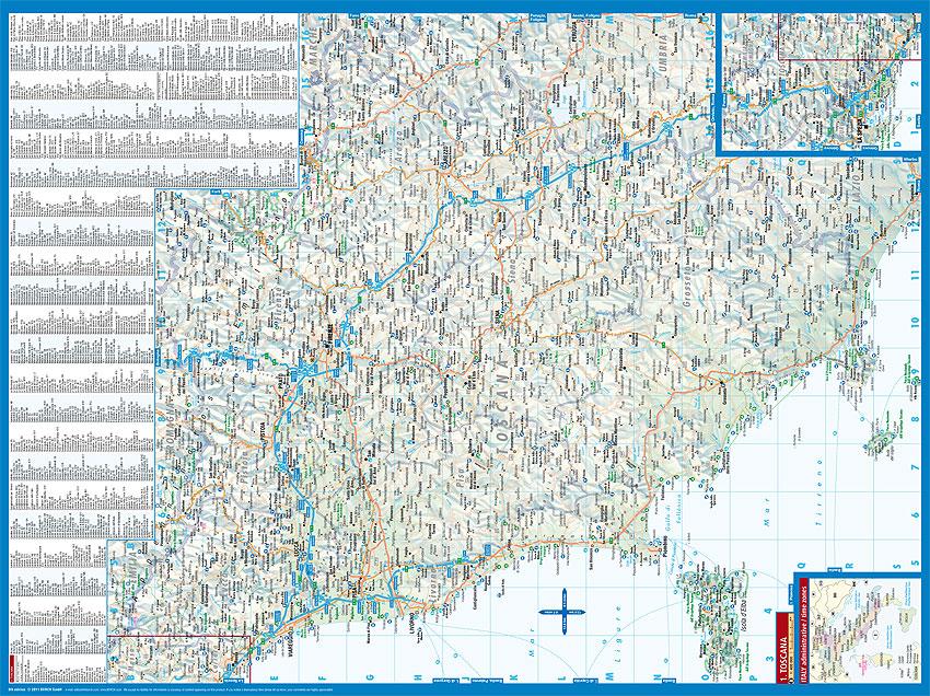 Stradale Cartina Geografica Toscana.Toscana Carta Geografica Turistica E Stradale