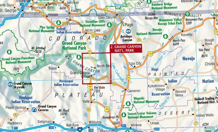 Cartina Stradale Usa Ovest.Stati Uniti 2 Sud Ovest Carta Geografica Turistica E Stradale