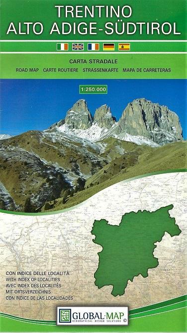 Cartina Stradale Del Trentino Alto Adige.Regione Trentino Alto Adige Carta Geografica Turistica E Stradale