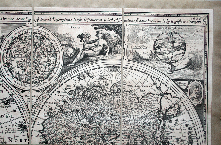 A New And Accvrat Map Of The World 1626.A New And Accurat Map Of The World Humble 1626 Engraved B W