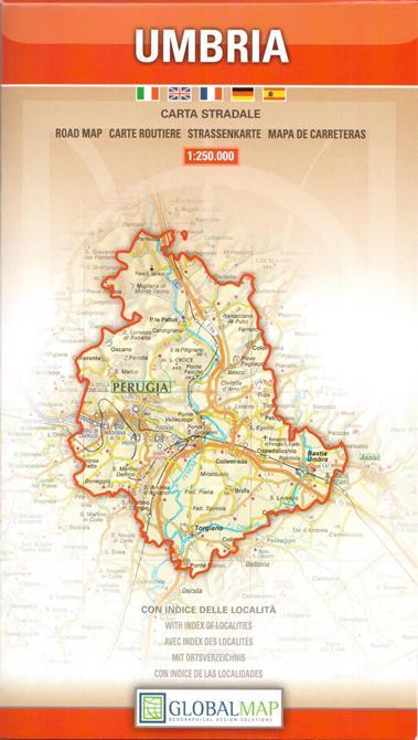 Umbria Cartina Turistica.Regione Umbria Carta Geografica Turistica E Stradale