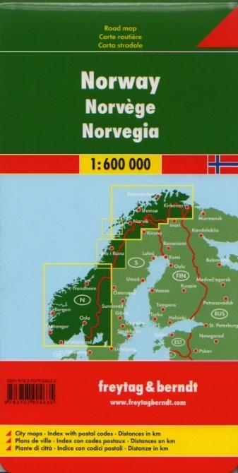 Norvegia Cartina Stradale.Norvegia Carta Geografica Turistica E Stradale