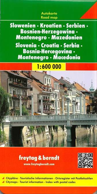Croazia E Slovenia Cartina Geografica.Croazia Slovenia Serbia Bosnia Macedonia Carta Geografica Turistica E Stradale