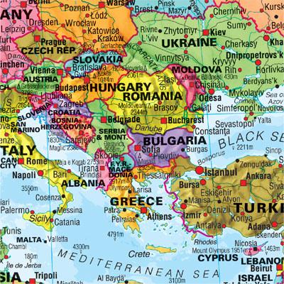 Cartina Politica Mondo 2017.Mondo Politico Xl Carta Geografica Murale