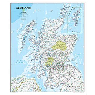 Cartina Geografica Della Scozia.Scozia Classica Politica Plastificata Carta Geografica Murale