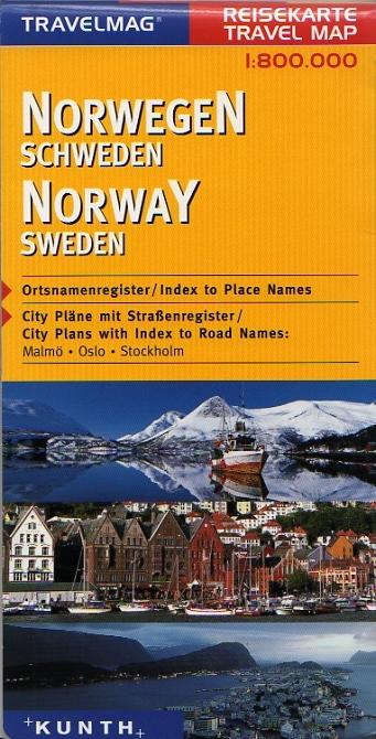 Norvegia Cartina Stradale.Scandinavia Norvegia Svezia Carta Geografica Turistica E Stradale