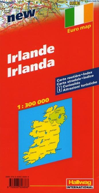 Irlanda Cartina Turistica.Irlanda Carta Geografica Turistica E Stradale
