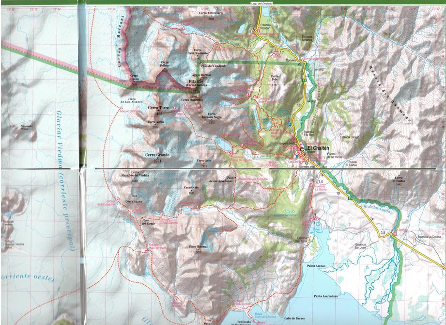 Patagonia Cartina Geografica.Patagonia Carta Geografica Escursionistica