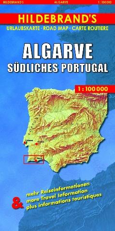 Cartina Geografica Algarve.Algarve Portogallo Sud Carta Geografica Turistica E Stradale