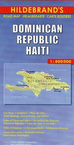 Cartina Geografica Haiti.Repubblica Dominicana Haiti Carta Geografica Turistica E Stradale