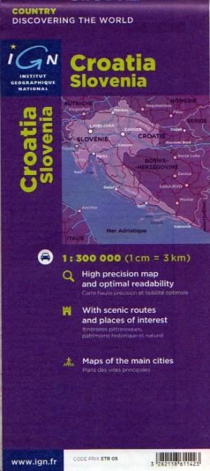 Croazia E Slovenia Cartina Geografica.Croazia Slovenia Carta Geografica Turistica E Stradale