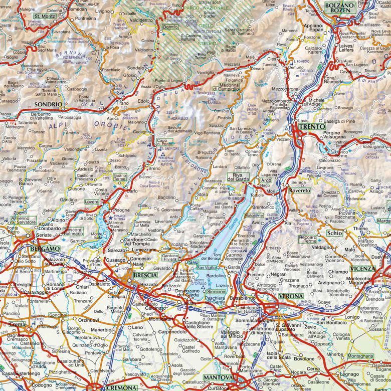 Piemonte Cartina Stradale.Piemonte E Valle D Aosta Carta Telata Carta Geografica Murale